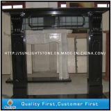 Carved Black Marble Fireplace Surround Sculpture Stone Fireplace Mantel