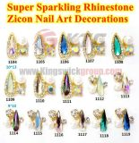 High Quality Super Sparkling Rhinestone Zircon 3D Nail Art Crystal Decoration