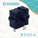 Soken 4 Position Electrical Changeover Rotary Switch 16A Rt232-4