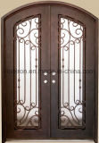 Low Price Tempered Safety Glass Doors Iron Front Doors