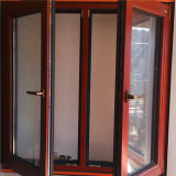 Double Open Inside White Oak Wood Aluminum Wood Window