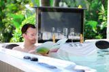 New Post Portable Glazed Massage Bathtub 2 Loungers Hot Tubs
