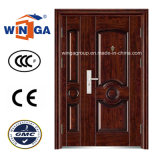 Popular Sell Sunproof Entrance Security Steel Door (W-SZ-04)