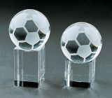 Football Glass Football Decoration with Vivid Shape