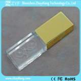 Golden Metal Crystal USB Pen Drive with Embed Logo (ZYF1509)