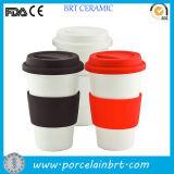 Wholesale Ceramic Coffee Travel Mug with Silicone Lid