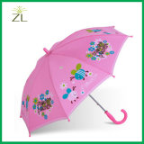 190t Polyester Cheapest Straight Kids Animal Umbrella