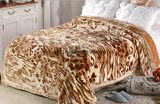Hot Sale 100% Polyester Raschel Blanket Sr-B170211-2 Soft Printed Mink Blanket
