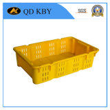 Y22 Reversible Piled Stackable Turnover Plastic Crate Collapsible Plastic Basket