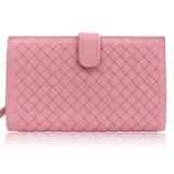 European Woven Leather Designs Wallets for Womens Luxury