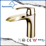 Polished Gold Bathroom Single Brass Faucet