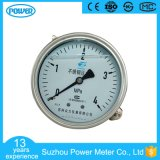 100 mm Stainless Steel Liquid Filling Pressure Gauge with Clamp