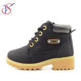 Family Fitted Kids Children Injection Safety Working Work Boots Shoes for Outdoor Job (SVWK-1609-049 BLACK)