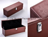 High-End Leather Wine Packaging Box with Logo Stamping/Logo Embossed