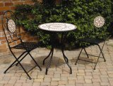 Outdoor Bistro Mosaic Table and Chairs (PL08-1070)