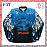 Custom Sportswear Blue Color Custom Fishing Jersey for Sale