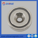 Strong Pot Magnet with Countersunk RPM-A36