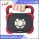 Cheap 10W/15W Hand Rechargeable Outdoor LED Camping Light with 1 Years Warranty