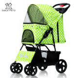 High Quality Dots 4 Wheels Pet Strollers for Cat Dog