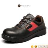 Black Leather Steel Toe Safety Working Shoes for Men