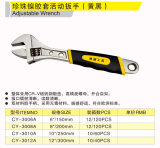 Cy-3010A Double Color Handle Adjustable Wrench Hand Tools