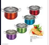 Stainless Steel Casserole with Metallic Plating; Kitchen Appliance; Cookware; Wok