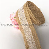 """2.4"""" Width Natural Jute Burlap Canvas Sheet Fabric Ribbons Gift Wrapping Christmas Wedding Home Decorations"""