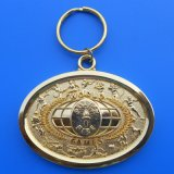 Metal Key Chain with Gold Plating
