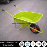 Wb6419 Zinc Plated Galvanized Wheelbarrow Rubber Wheel Barrow Cart