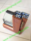 Perfect Solid Red Oaken Wood Aluminum Tilt&Turn Casement Windows
