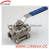 Sanitary Stainless Steel Threaded Three-Pieces Ball Valve