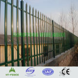 Dipped caliente Galvanized y PVC Coated Palisade Fencing
