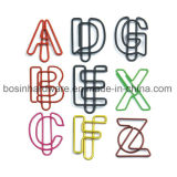 Alphabet Shape PVC Coated Paper Clips
