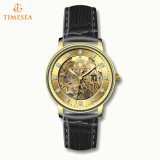 Factory Custom Genuine Leather Mens Automatic Watches Skeleton Watch Men 72493
