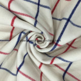 Red & Blue Check Wool Fabric for Overcoat