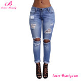 Hexin Wholesale Hollow out Denim Jeans Pants Leggings