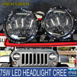 7 Inch Super Bright Round High Low Beam with Daytime Running Light for Jeep