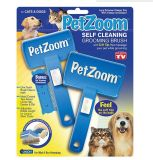 2-Pack Pet Brush Small Cleaning Brush Petzoom Self Cleaning Pet Grooming Brush