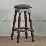 Solid Wooden Round High Bar Chair for Bistro (SP-HBC253)