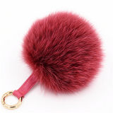 Promotional Bottle Opener Fur Keychain Fox Ball Bag Charm