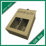 Brown Jewelry Gift Paper Box with PVC Window