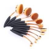 10PCS Oval Brush Set From Professional Cosmetics Manufacturer