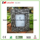 Polyresin Decorative Wood-Look Picture Frame for Home and Table Decoration