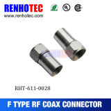 Electrical Male 75 Ohm Coax RF Connector RG6 Rg59 Compression F Connector
