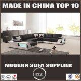 Large Size U-Shaped Genuine Leather Corner Sofa