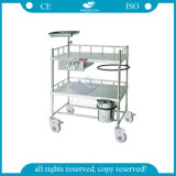 AG-Ss052 Mobile Medical Equipment with Wheels Hospital Trolley