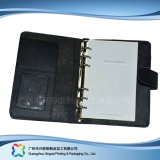 B6 Office/Student Stationery Leather Cover Notebook with Pockets (xc-stn-014)
