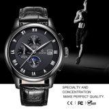 Automatic Mechanical Mens Classic Black Leather Sport Wrist Watch 72238