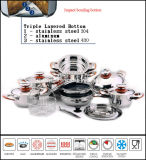 Impact Bottom Stainless Steel 304 Cookware Set