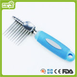 Dog Rake Dematting with Rubber Handle Pet Comb